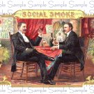 Social Smoke Vintage Digital Cigar Box Art Ephemera Scrapbooking Altered Art Decoupage