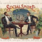 Social Smoke 2 Vintage Digital Cigar Box Art Ephemera Scrapbooking Altered Art Decoupage