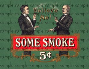 Some Smoke Vintage Digital Cigar Box Art Ephemera Scrapbooking Altered Art Decoupage