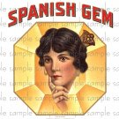 Spanish Gem Vintage Digital Cigar Box Art Ephemera Scrapbooking Altered Art Decoupage