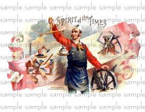 Spirit of the Times 2 Vintage Digital Cigar Box Art Ephemera Scrapbooking Altered Art Decoupage