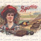 Sportie Vintage Digital Cigar Box Art Ephemera Scrapbooking Altered Art Decoupage