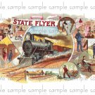 State Flyer Vintage Digital Cigar Box Art Ephemera Scrapbooking Altered Art Decoupage