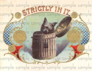Strictly In It Vintage Digital Cigar Box Art Ephemera Scrapbooking Altered Art Decoupage