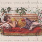 Summers Rest Vintage Digital Cigar Box Art Ephemera Scrapbooking Altered Art Decoupage