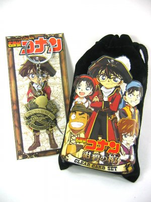 Japan Anime Detective Conan Shinichi Coin Bag & Keychain Set Ref#DC001