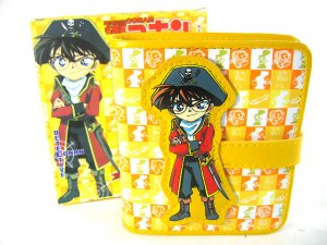 Japan Anime Detective Conan Shinichi Yellow Privates Wallet Ref#DCW001