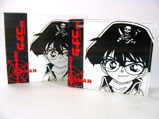 Japan Anime Detective Conan Shinichi Privates White Wallet Ref#DCW003