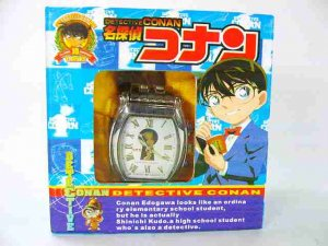Japan Anime Detective Conan Shinichi Wrist Watch wBox  Ref#DCW001