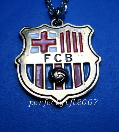 Barcelona Football FC Club Sports Colorful Necklace Pendant Free Chain