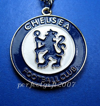 Chelsea Football FC Club Sports Colorful Necklace Pendant Free Chain