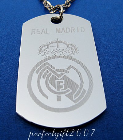 Stainless Steel Real Madrid FC Dog Tag Necklace Pendant