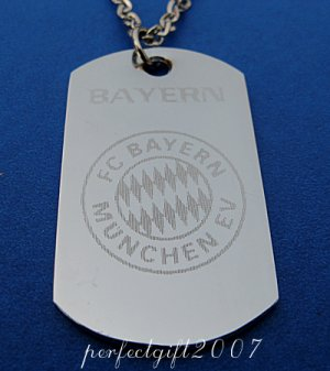 Stainless Steel Bayern Munich Dog Tag Necklace Pendant