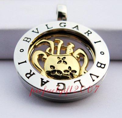 Aquarius Horoscope Zodiac Steel Necklace Pendant