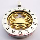 Cancer Horoscope Zodiac Steel Necklace Pendant