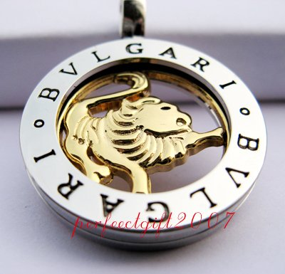 Leo Horoscope Zodiac Steel Necklace Pendant
