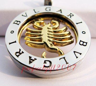 Scorpio Horoscope Zodiac Steel Necklace Pendant