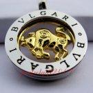 Taurus Horoscope Zodiac Steel Necklace Pendant
