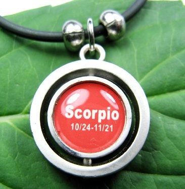 Stainless Steel Horoscope Zodiac Rhombus Pendant Scorpio