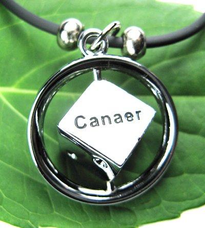 Stainless Steel Horoscope Zodiac Rhombus Pendant Cancer