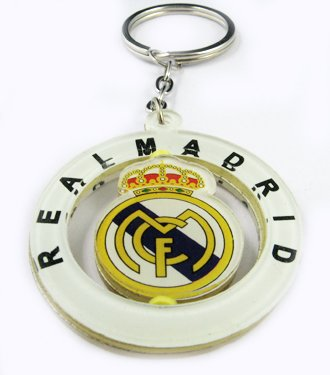 Real Madrid Football FC Rotatable Acrylic Key Chain New
