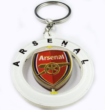 Arsenal Football FC Sports Rotatable Key Chain Ring New