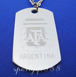 Stainless Steel FC Dog Tag Necklace Pendant Argentina