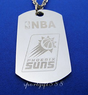Stainless Steel NBA Club Dog Tag Necklace Phoenix Suns