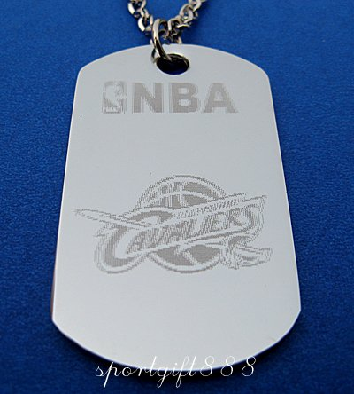 Stainless Steel NBA Dog Tag Necklace Cleveland Cavalier