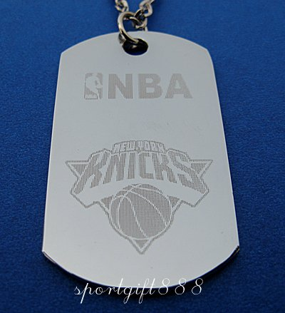 Stainless Steel NBA Dog Tag Necklace NEW YORK KNICKS