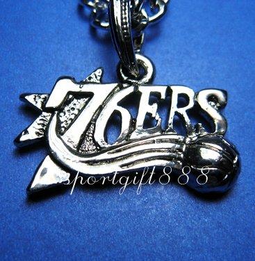 NBA  Metal Necklace Pendant 76ERS New