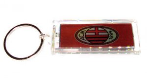AC Milan FC Club solar powered key chain keyring-LCD
