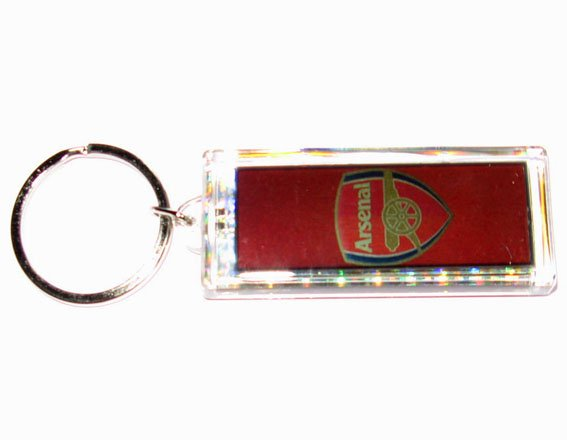 Arsenal FC Club solar powered key chain keyring-LCD