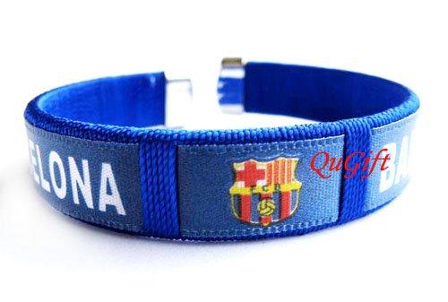Barcelona FC Club Football Sport Colorful Adjustable Bangle Bracelet Wristband
