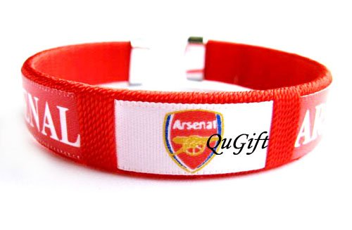 Arsenal FC Club Football Sport Colorful Adjustable Bangle Bracelet Wristband