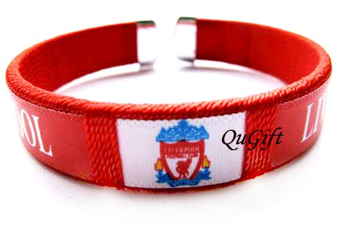 Liverpool FC Club Football Sport Colorful Adjustable Bangle Bracelet Wristband