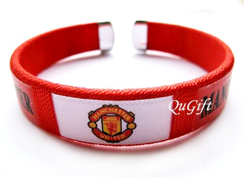 Manchester United FC Club Football Sport Colorful Adjustable Bangle Bracelet Wristband #2