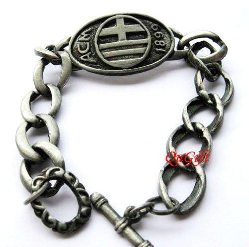 AC Milan FC Club Football Sports Bangle Bracelet Metal Wristband