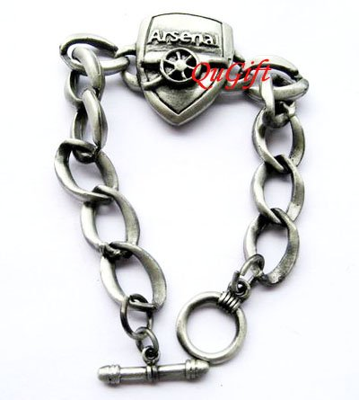 Arsenal FC Club Football Sports Bangle Bracelet Metal Wristband
