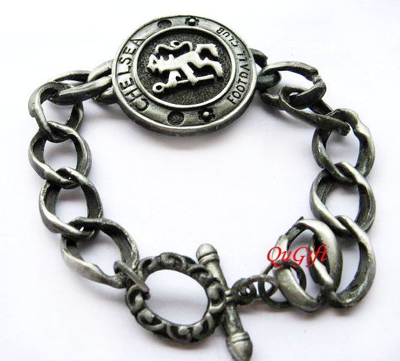 Chelsea FC Club Football Sports Bangle Bracelet Metal Wristband