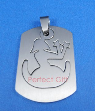 Virgo Stainless Steel Horoscope Zodiac Necklace Pendant Dog Tag 2-Piece