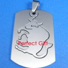 Taurus Stainless Steel Horoscope Zodiac Pendant Dog Tag 2-Piece New