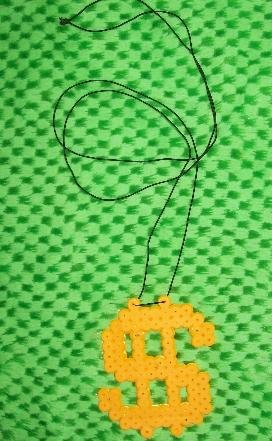 Gold money sign  necklace