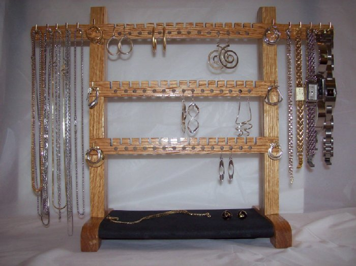 Jewelry Rack - Small Oak