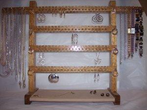Jewelry Rack - Large Oak