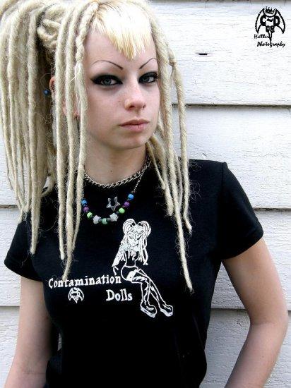 Contamination Dolls T-shirt: Extra Large.f