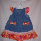 Orange and pink sundress size 0-6 mos.