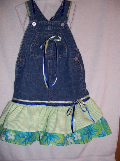 Lime green sundress  with bonnet  size 2
