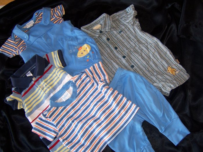 baby boy size 0-3 lot  6-pieces