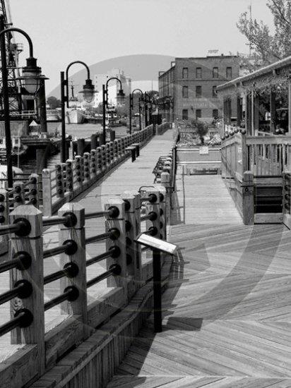 "River Walk - ""The George� - 3001 - 11x17 Framed Photo"